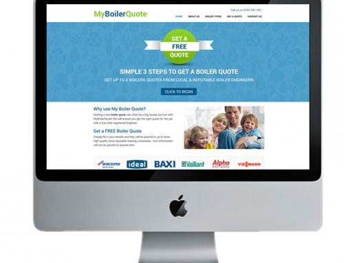 Bespoke Website Design for My Boiler Quote