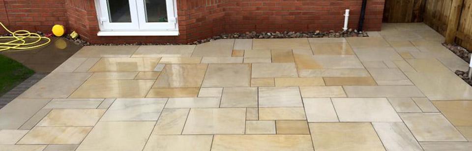 cheshire sandstone paving