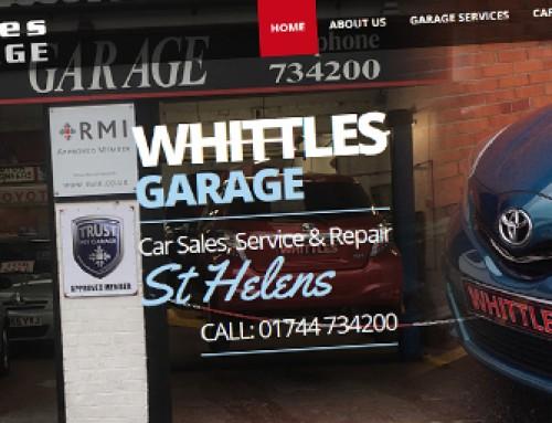 Website Design for Whittles Garage in St Helens